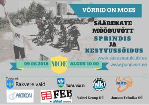 Punnvõrride ökosõidu võistlusjuhend 9. juuni Moel.