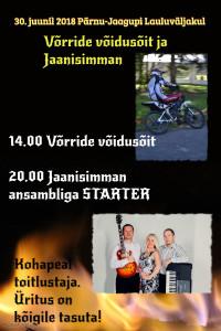 30 Juuni 2018, sprindisõidu 3. etapp Pärnu-Jaagupis